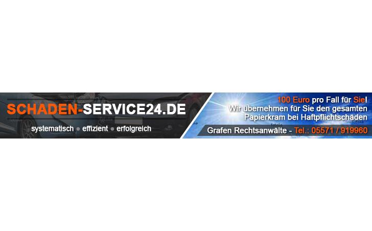 Schadenservice24 Autoscout Bannerwerbung