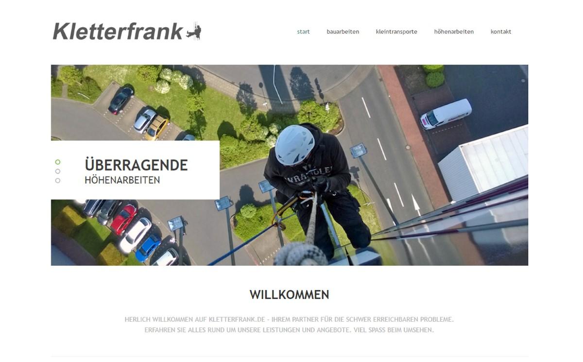 Kletterfrank - Firmenwebseite